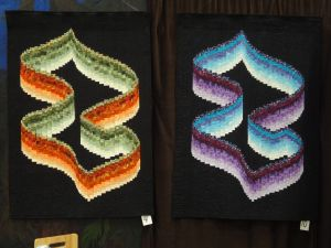Twisted Ribbon Bargello.  Jamie's is on the right