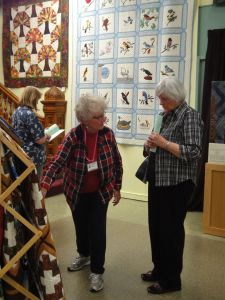 Jamie, comparing signature quilts both she and Joyce have displayed