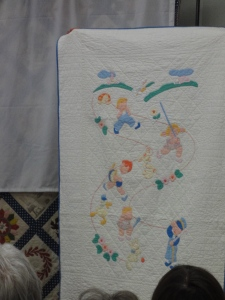 Crib quilt, probably from a kit
