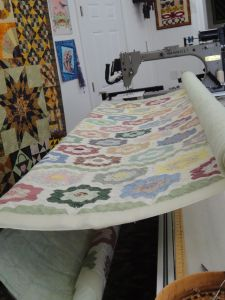 A clent's quilt in progress