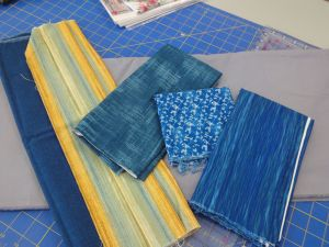 Back to the fabrics for the table mat for Mike & Rebecca